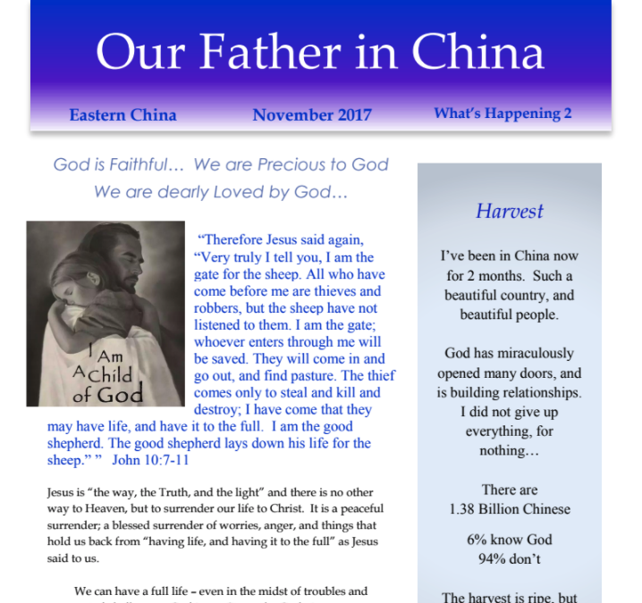 Our Father in China – Nov 2017 Update